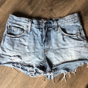 Levi's 501 button fly cut off jean shorts 27